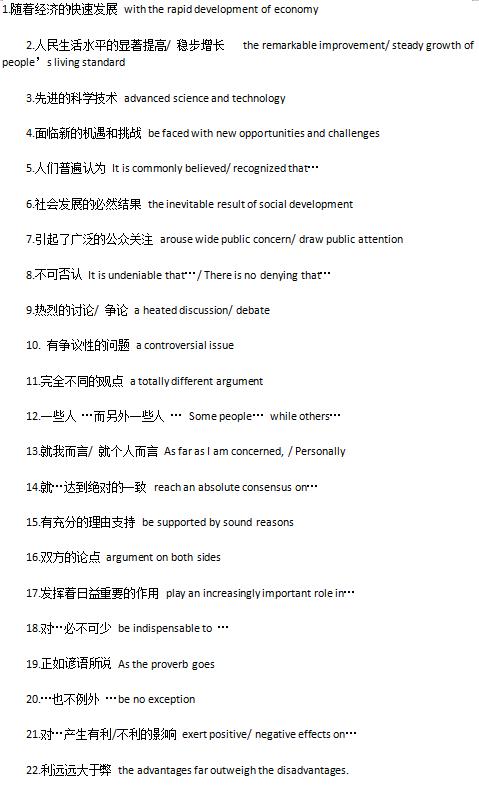 BEC写作常用的100个短语doc下载