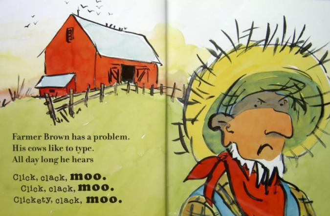 少儿绘本<b style='color:red'>故事</b>《咔嗒、咔嗒、哞,奶牛会打字》网盘分享!
