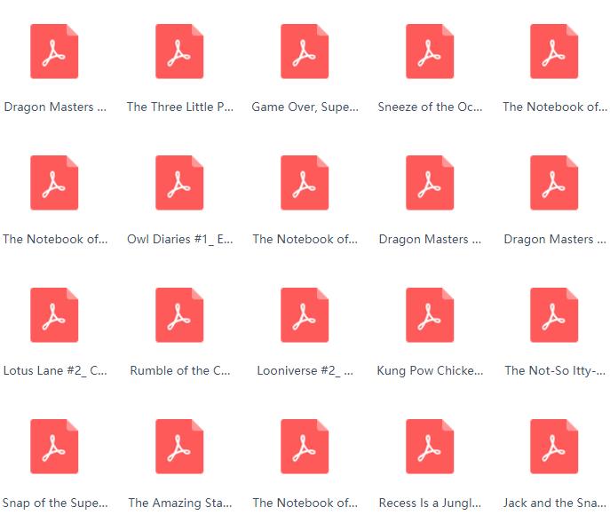 <b style='color:red'>学乐</b>大树桥梁书系列 40多本pdf下载最新资源分享。