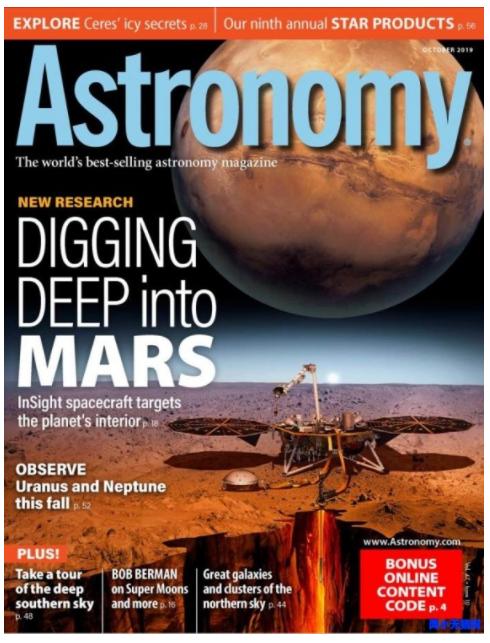 美国天文学杂志《Astronomy》2019年10月刊pdf电子版全集下载。