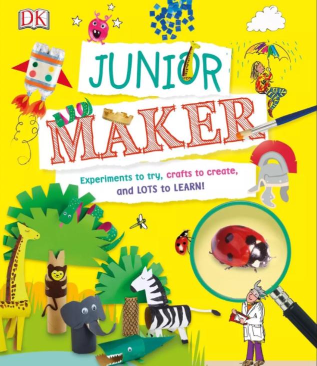 DK图书《JUNIOR MAKER》做着手工就把宇宙知识学会了!必备资源下载!