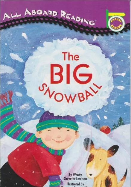 3-6岁必读《大雪球 The big snowball》充满童趣的绘本故事(PDF+<b style='color:red'>音频</b>)