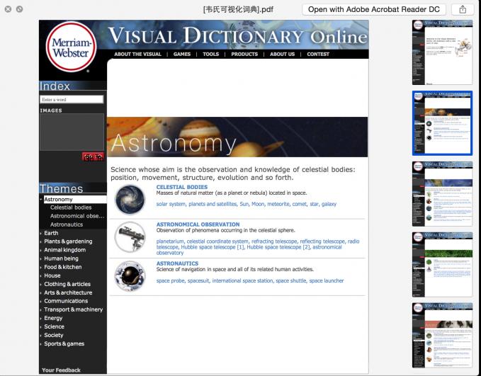 韦氏可视化词典pdf 让你的英语学习更有效率合集下载!