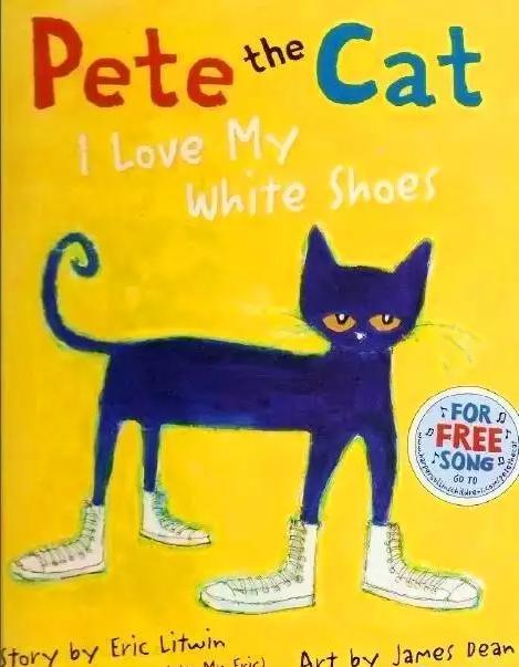 皮特猫-我爱我的白色鞋子英文版,让孩子学会乐观往前走资料大全