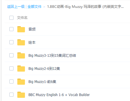 BBC动画Muzzy:音频+视频+绘本