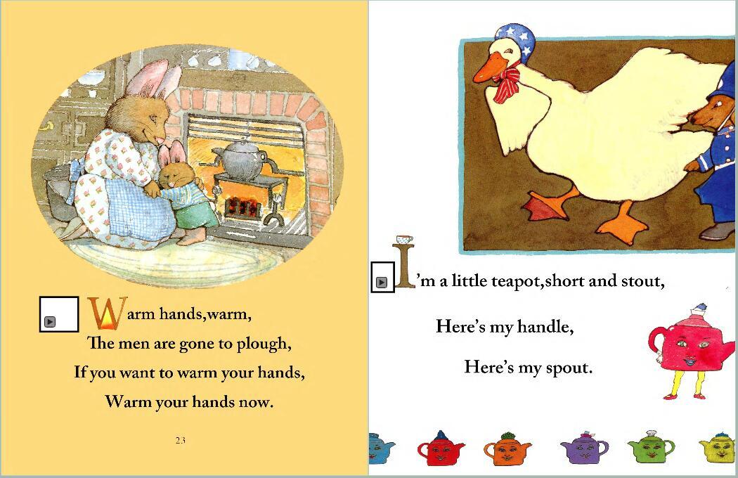 鹅妈妈童谣My very first mother goose 点读PDF+MP3和鹅妈妈动画下载